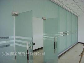 深圳罗湖不锈钢玻璃门 电动玻璃门 办公室玻璃隔墙