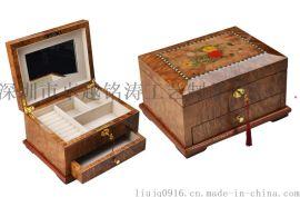 首饰盒 首饰盒木盒 油漆木盒 油漆首饰盒