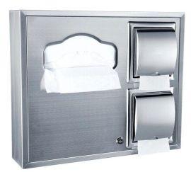 坐厕纸架 不锈钢组合式厕纸盒 明暗装可选