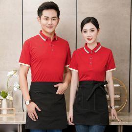水果超市连锁餐饮便利店衣服短袖T恤酒吧歌城KTV服务员工作服快餐