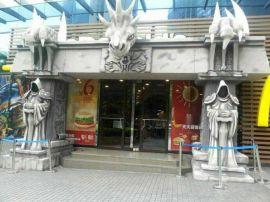 魔兽世界游戏主题泡沫雕塑大型卡通人物工艺品摆件