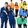韓版學生班服情侶運動裝加絨拉鏈開衫男女衛衣外套可繡字企業LOGO