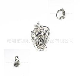 德利鑫 DLXZZ 批发铸造钛戒指 时尚OL手环 女式 钛介指 茉莉花介指 纯钛指环厂家加工定做