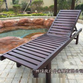厂家直销实木沙滩椅泳池躺椅