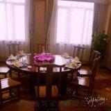 酒店电动餐桌大圆桌火锅桌酒店电动圆桌转盘餐桌3米