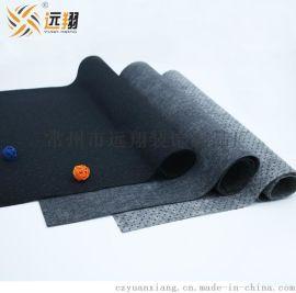 厂家直销黑色灰色1-5mm高质量防滑点塑针刺无纺布