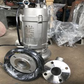 304潜水排污泵整体不锈钢潜水泵排污泵不锈钢材质