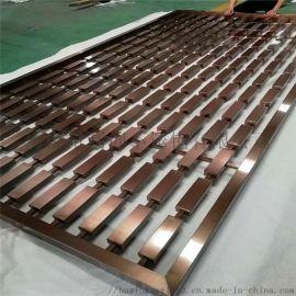 不锈钢304镜面钛金酒店屏风定制加工