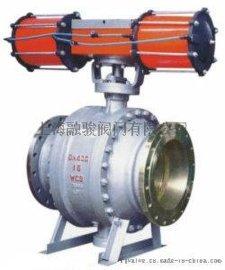 上海融骏阀门厂Q647F气动固定式球阀