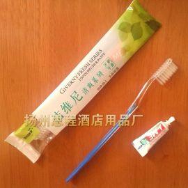 宾馆酒店招待所浴室一次性牙刷牙膏二合一套装居家待客旅游用品