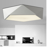 亞克力吸頂燈 現代簡約幾何多面體創意led貼片 客廳臥室書房燈具