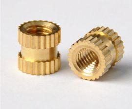注塑螺母 铜螺母 铜嵌件 厂家直销 滚花螺母
