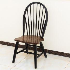主題餐廳孔雀椅 實木做舊風格 現代美式靠背餐椅 洽談休閒椅 可定制