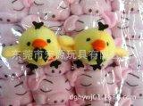 鼻孔鸡 爱心绣花小黄鸡 毛绒公仔可爱超萌雏鸡玩具 环保可爱小鸡
