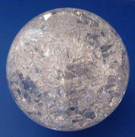 晶韵浦江水晶厂家60毫米打孔裂纹水晶球