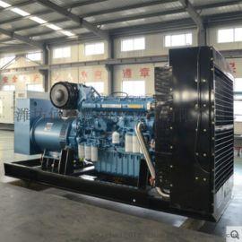 潍柴博杜安1100kw发电机组 水冷12缸柴油机