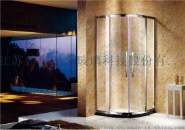 簡易淋浴房 廠家直銷家用工程衛生間扇形鋼化玻璃淋浴房