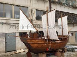 装饰木船现货供应 欧式木船 景观餐饮船