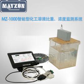 在线工业酒精浓度计、比重计、密度计MZ-1000监控系统