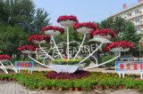 广场公园立体容器 大型造型铁艺花架 美化方案
