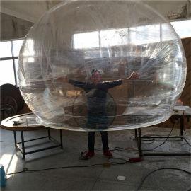 透明空心亚克力大半球,装饰球,有机玻璃圆球