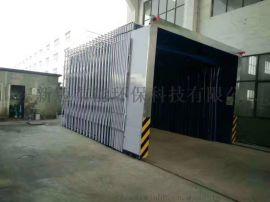 移动伸缩喷漆房18米*6米*3米定制方案报价