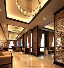 深圳雕刻定製現代風格背景牆花格鏤空裝飾板隔斷板