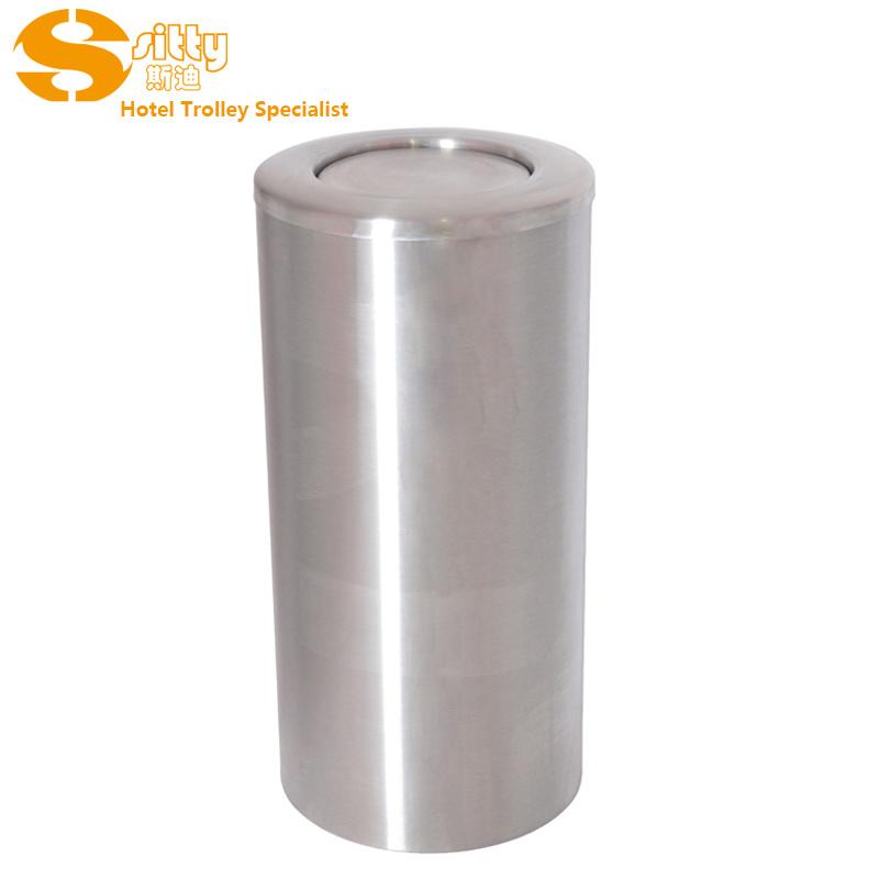 专业生产SITTY斯迪砂光不锈钢翻盖垃圾桶(92.1039)