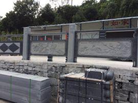 芝麻黑花岗岩石栏杆厂家 福建石雕石栏杆定做