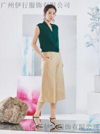 杭州艺素国际时尚简约品牌折扣女装19年春装货源供应