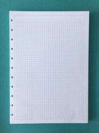 A4内页替芯横线、格子蘑菇孔记事本活页内页替芯80张