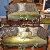 实木雕花沙发   欧式布艺沙发组合多人沙发  美式客厅高档沙发