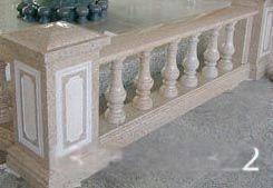 黄砂岩葫芦柱栏杆、罗马柱黄锈石护栏