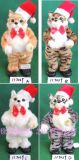 XMTOYS高仿真電動毛絨玩具 聖誕帽唱歌跳舞貓
