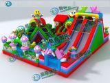 新款儿童滑梯熊出没充气大滑梯/熊出没系列充气滑梯厂家定做直销