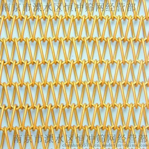高品质编织装饰网 高质量建筑外墙 专用金属幕墙网