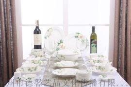 精美陶瓷食具-香水百合食具56頭