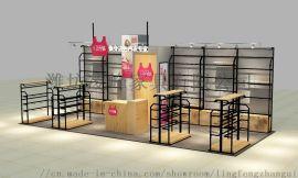 钢木展柜制作厂家、设计制作孕婴、服装、家纺展示柜