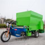 电动三轮撒料车图片 机械化养殖喂料车双向撒料车