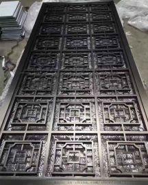 黑钛镜钢不锈钢屏风_苏州酒店金属屏风花格定制