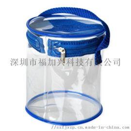 定制PVC拉鏈圓筒袋 手提圓筒包