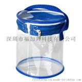 定制PVC拉链圆筒袋 手提圆筒包