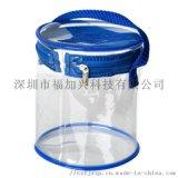 定製PVC拉鍊圓筒袋 手提圓筒包