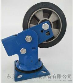 東莞減震彈簧橡膠腳輪 重型彈簧減震橡膠萬向輪