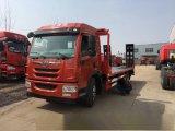 解放龙V 15吨黄牌平板车拖车