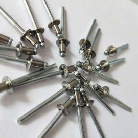 304半不锈钢开口圆头抽芯拉铆钉 装潢圆头柳钉拉卯钉M/m3.2 4 4.8