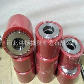 聚氨酯包胶件包胶轮 耐磨聚氨酯轮 铝芯包聚氨酯轮