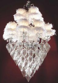 照明灯具羽毛玻璃现代吊灯