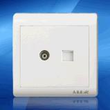 鸿润HR6C-205电视电话插座