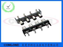 BNC1*4多PORT视频连接器插座